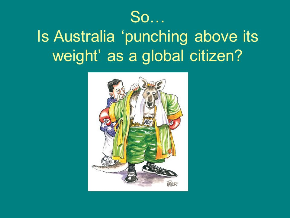 So… Is Australia 'punching above its weight' as a global citizen