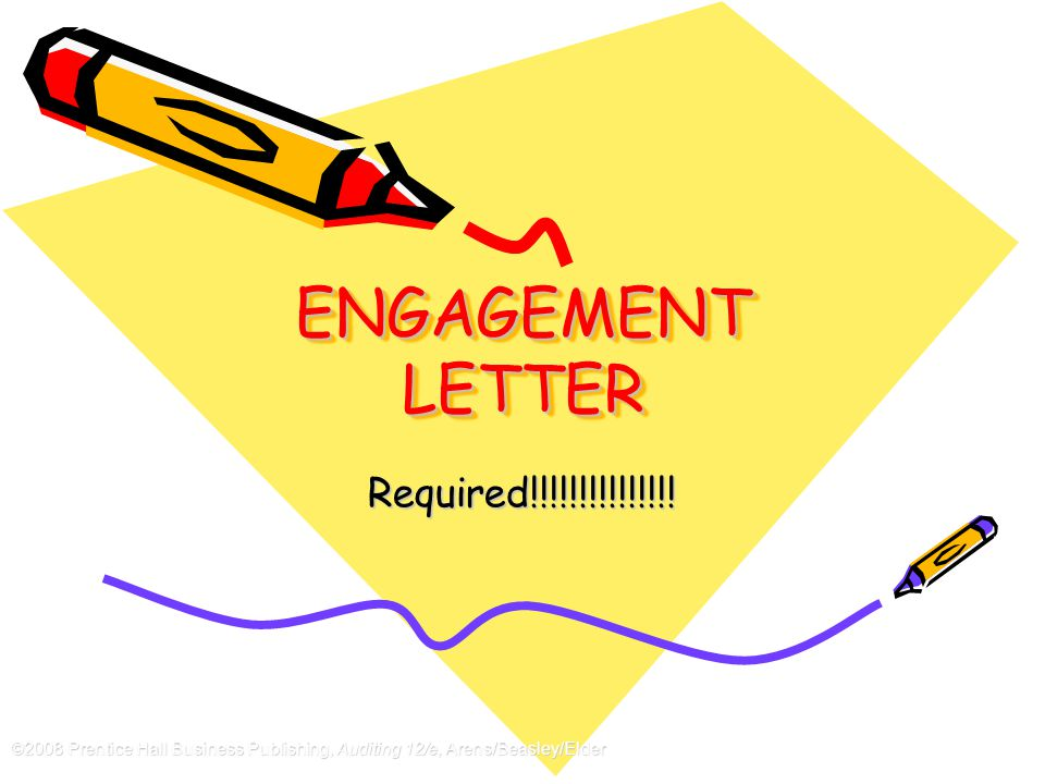 ENGAGEMENT LETTER Required!!!!!!!!!!!!!!!
