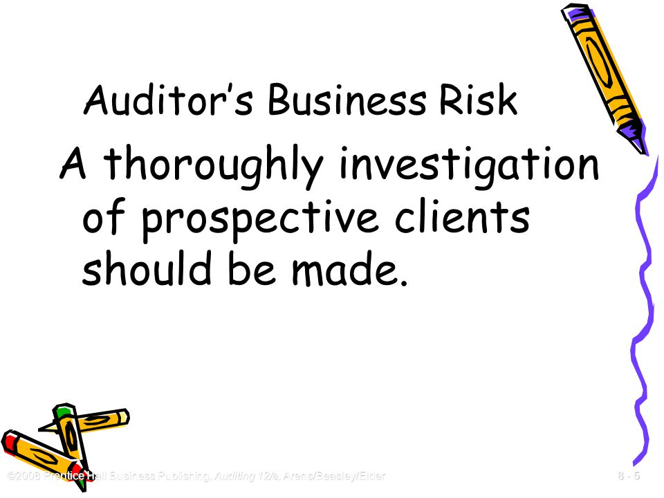 Auditor's Business Risk