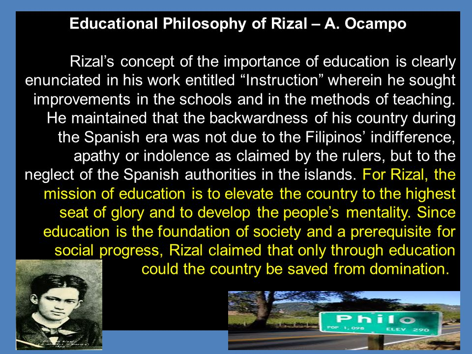 Educational Philosophy of Rizal – A. Ocampo