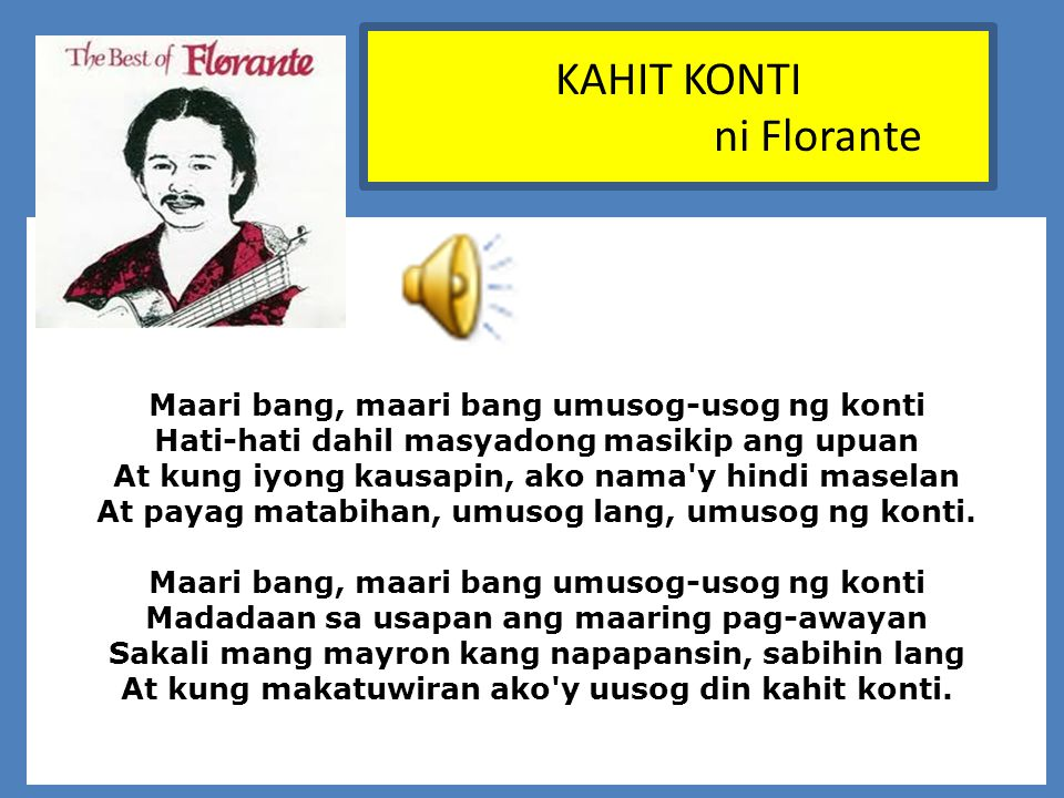 KAHIT KONTI ni Florante