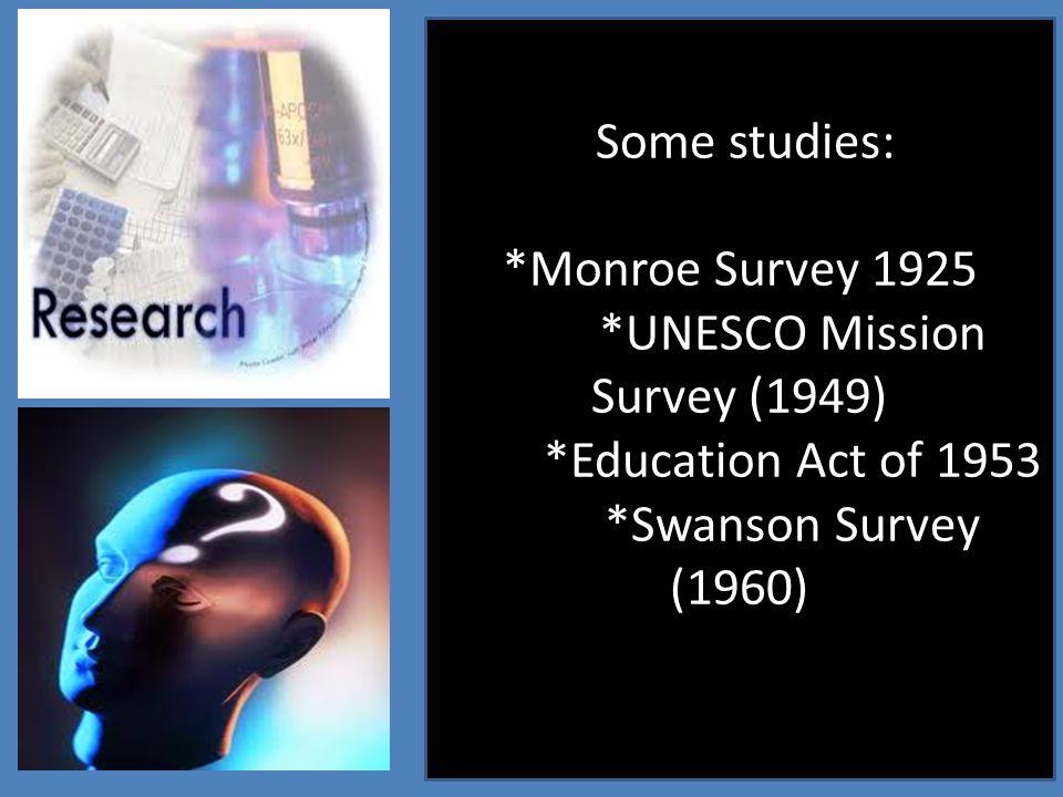 *UNESCO Mission Survey (1949)