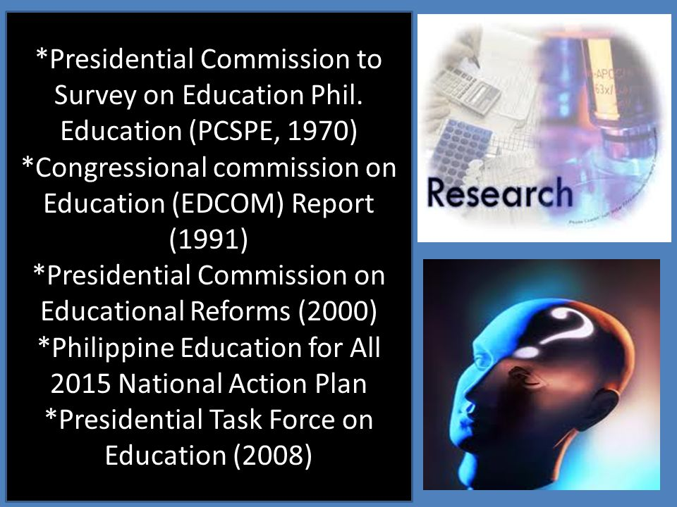 *Congressional commission on Education (EDCOM) Report (1991)