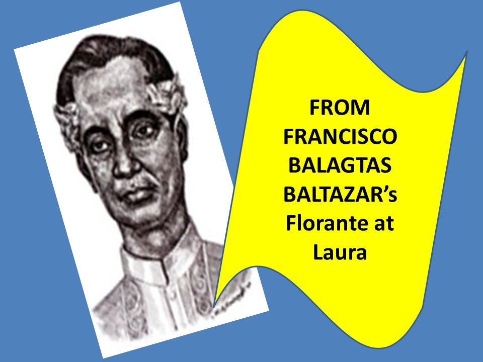 FROM FRANCISCO BALAGTAS BALTAZAR's