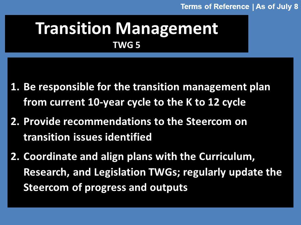 Transition Management TWG 5