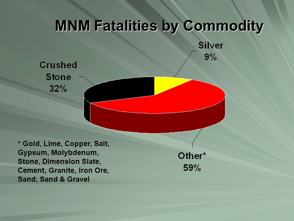 MNM Fatalities by Commodity