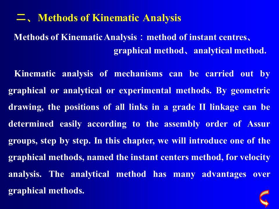 二、Methods of Kinematic Analysis