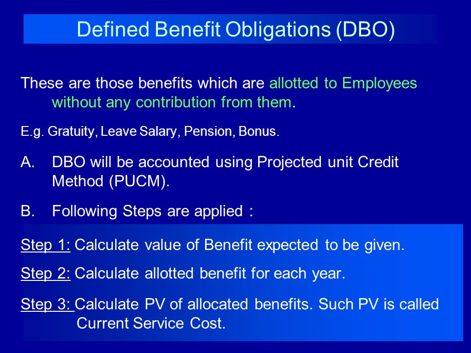 Defined Benefit Obligations (DBO)