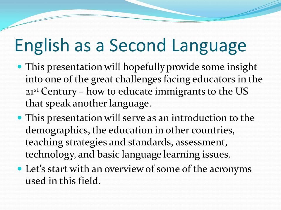 Career Info for Teaching English as a Second Language