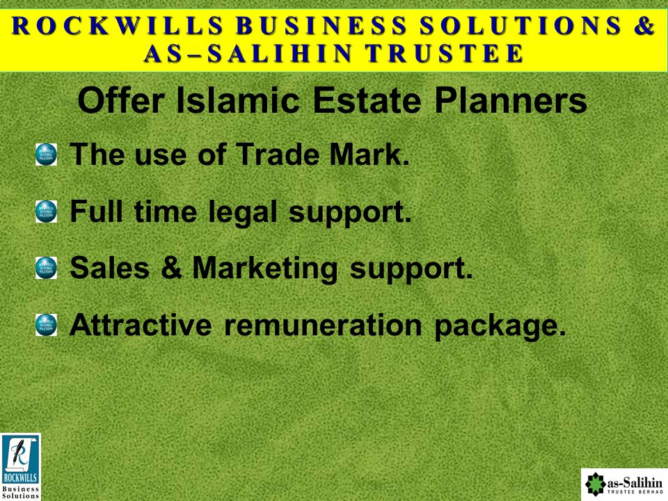 Offer Islamic Estate Planners