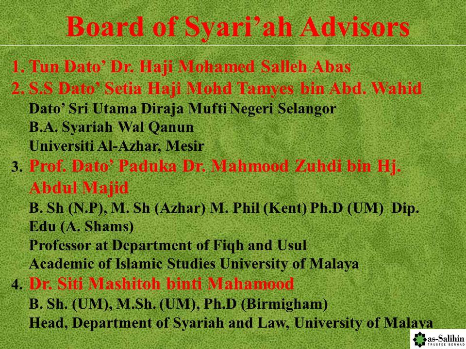 Board of Syari'ah Advisors