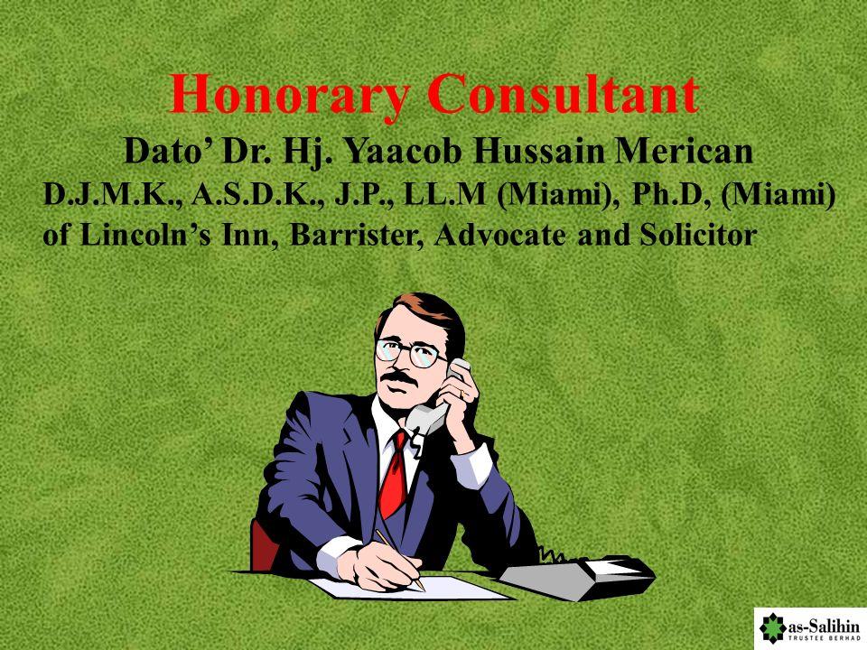 Dato' Dr. Hj. Yaacob Hussain Merican