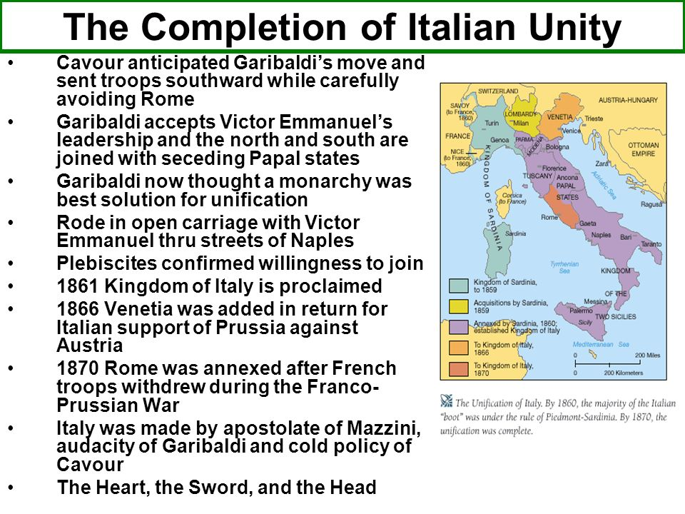 The Completion of Italian Unity