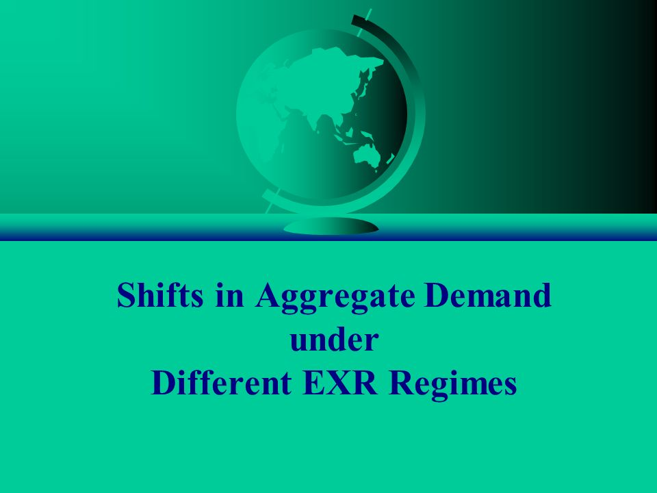 Shifts in Aggregate Demand under Different EXR Regimes