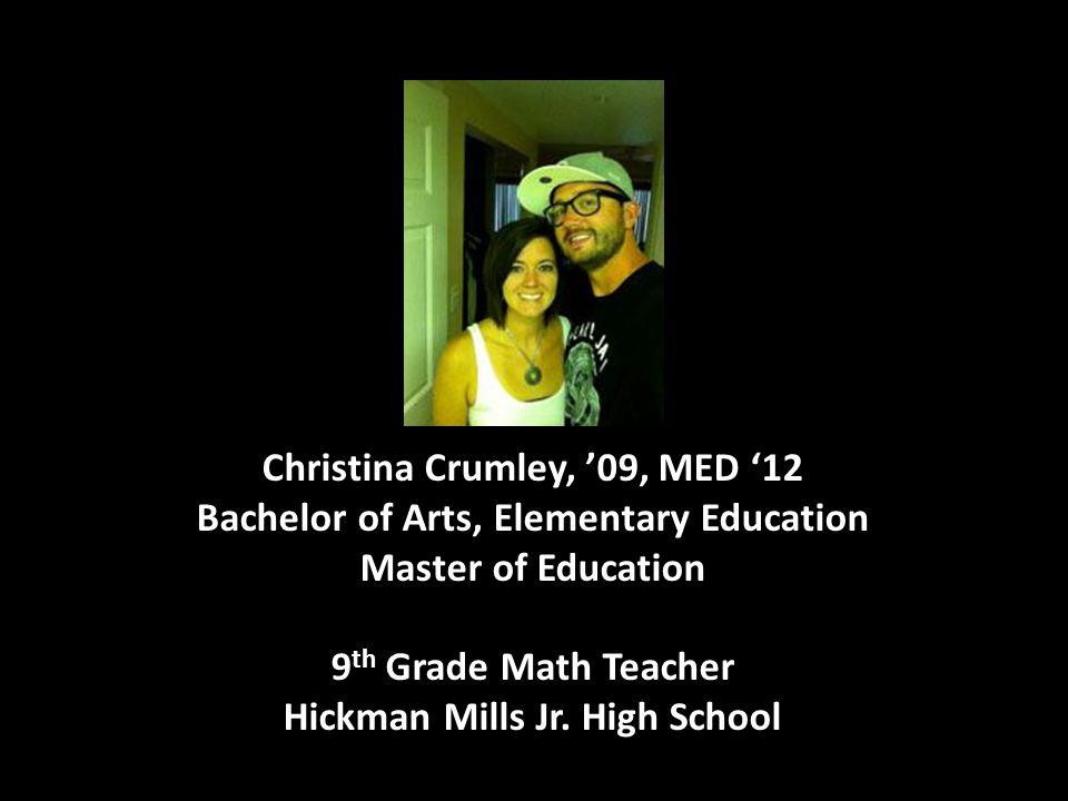 9th Grade Math Teacher Hickman Mills Jr. High School
