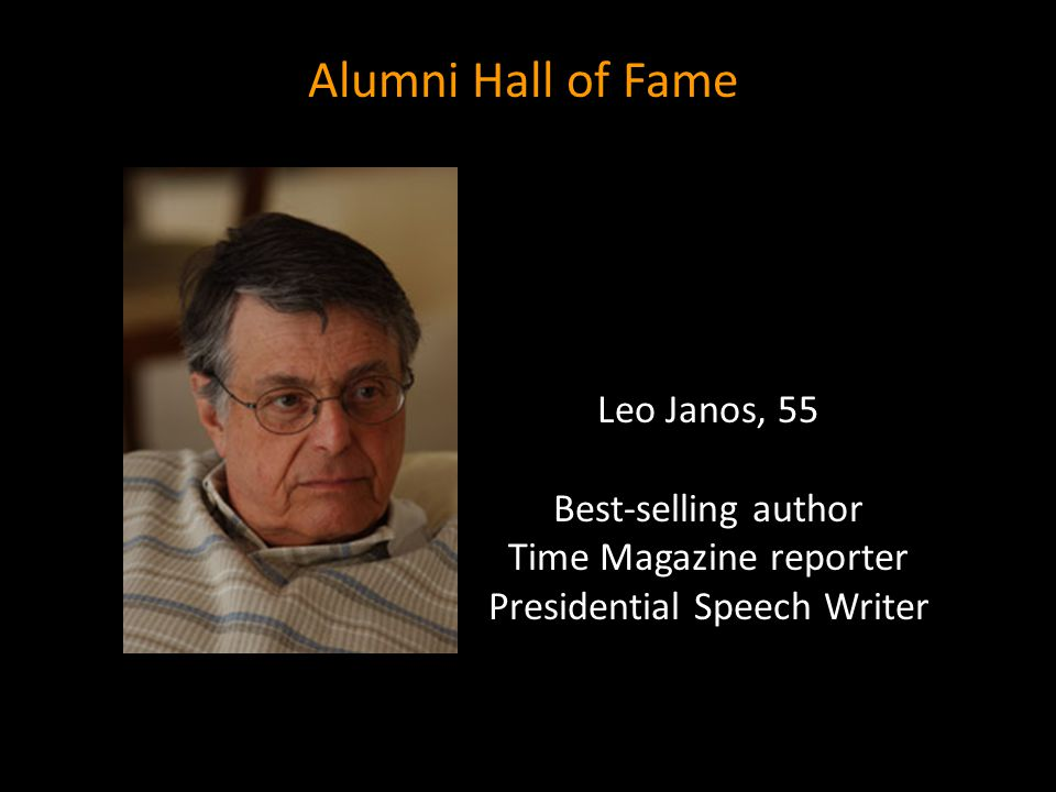 Alumni Hall of Fame Leo Janos, 55