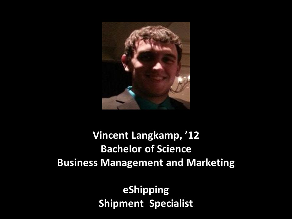 Bachelor of Science Business Management and Marketing eShipping