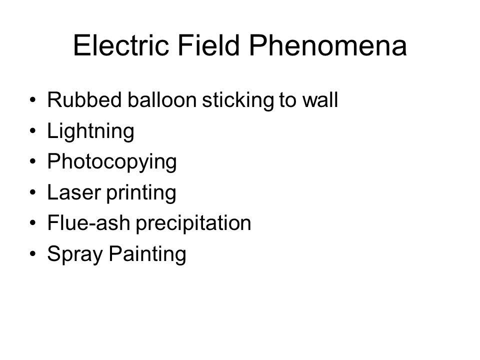 Electric Field Phenomena