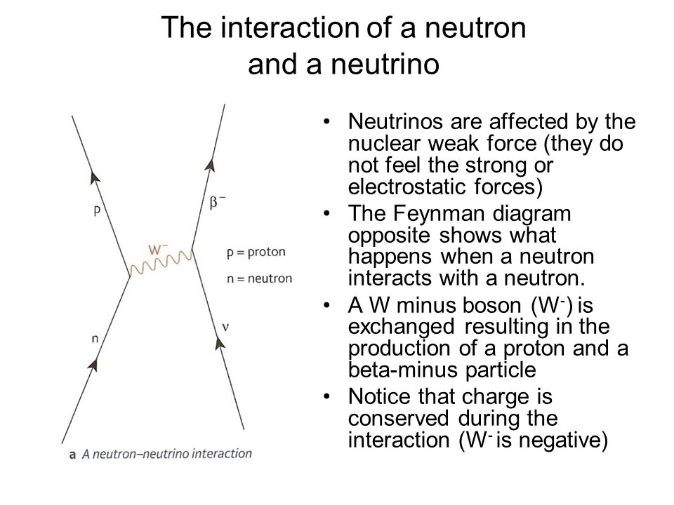 The interaction of a neutron and a neutrino