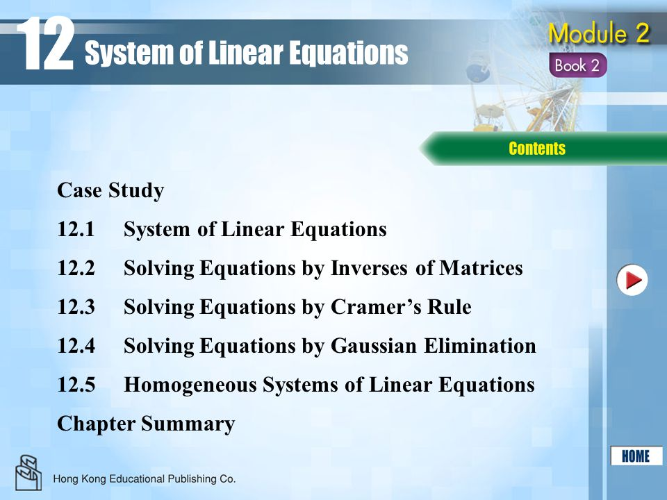 12 System of Linear Equations Case Study