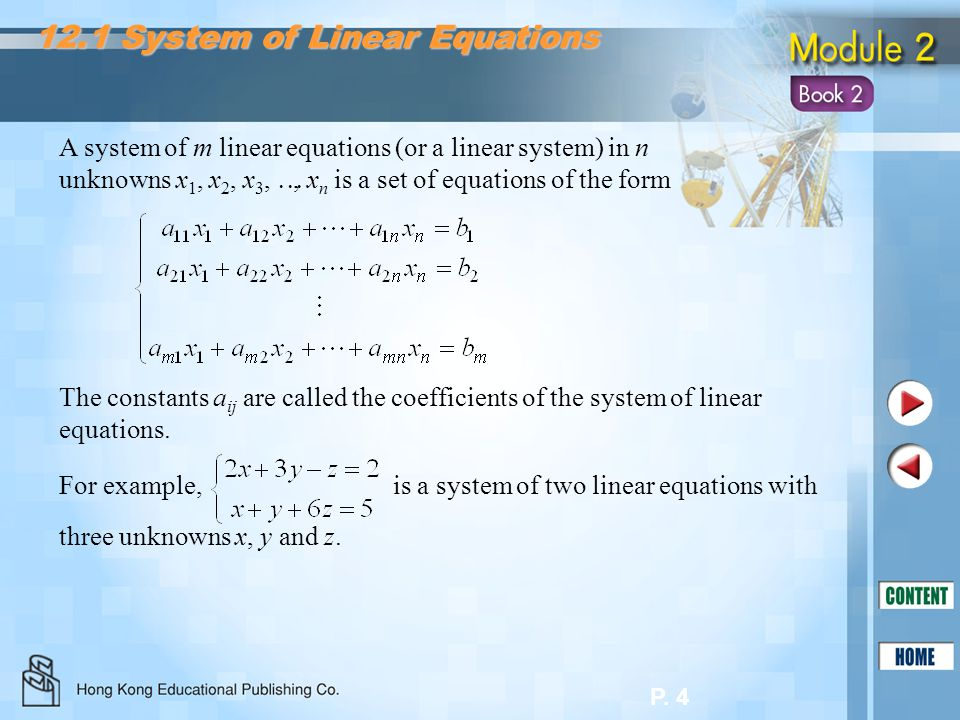 12.1 System of Linear Equations