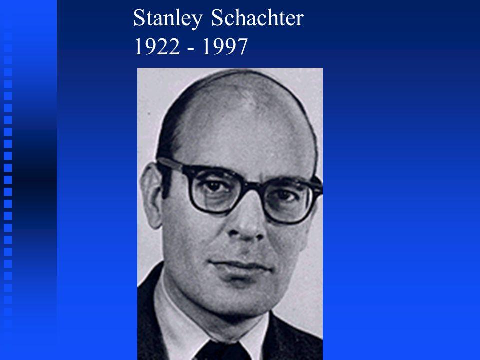 Stanley Schachter 1922 - 1997
