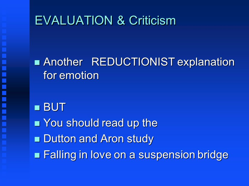 EVALUATION & Criticism