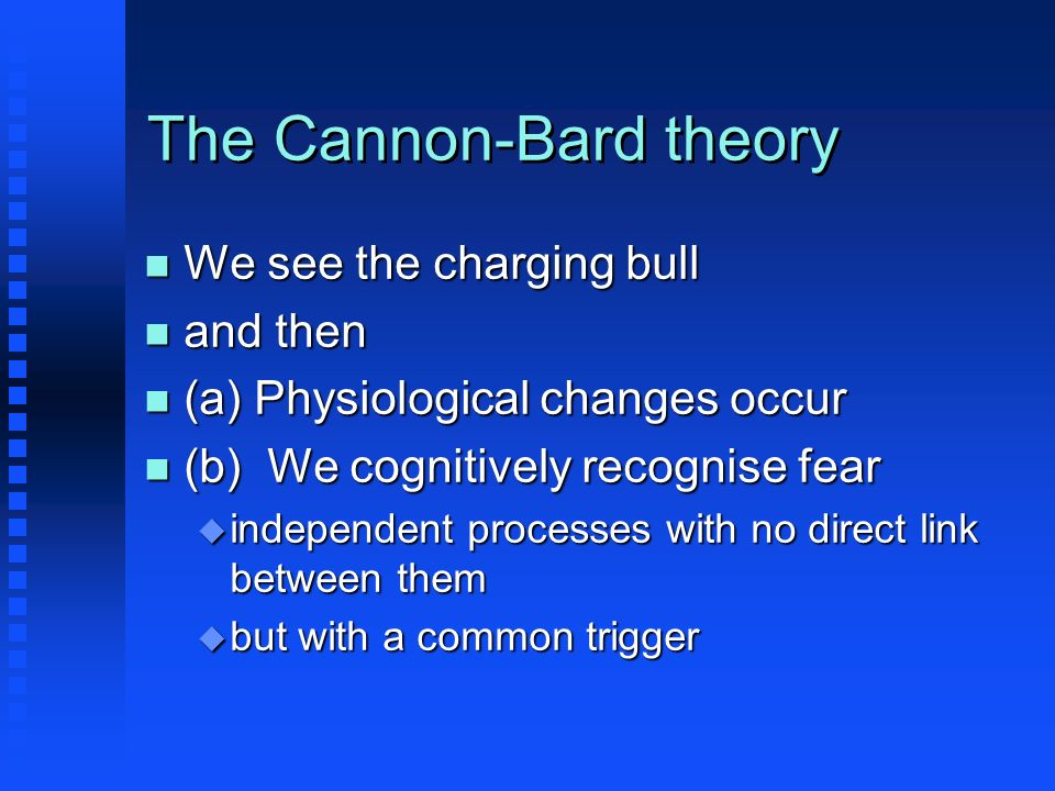 The Cannon-Bard theory