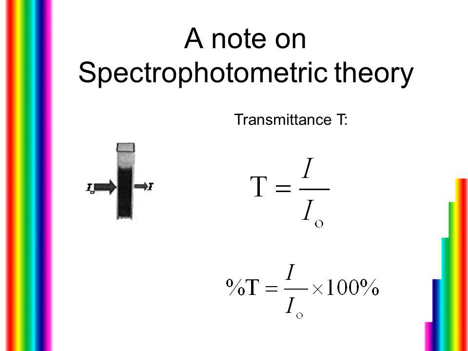A note on Spectrophotometric theory