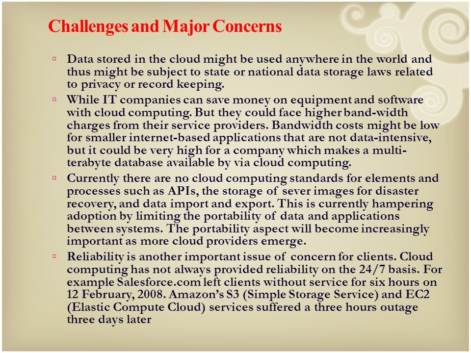 Challenges and Major Concerns