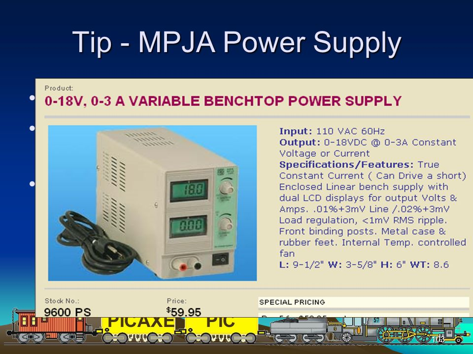 Tip - MPJA Power Supply Excellent tool for testing circuits