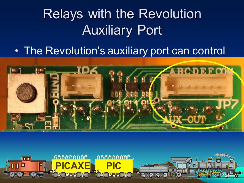 Relays with the Revolution Auxiliary Port
