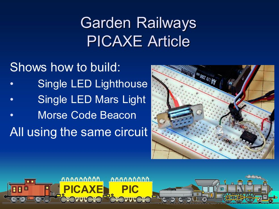 Garden Railways PICAXE Article