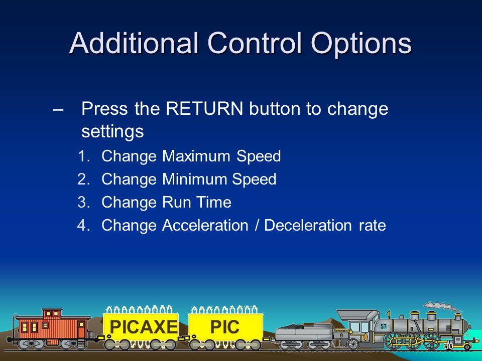 Additional Control Options