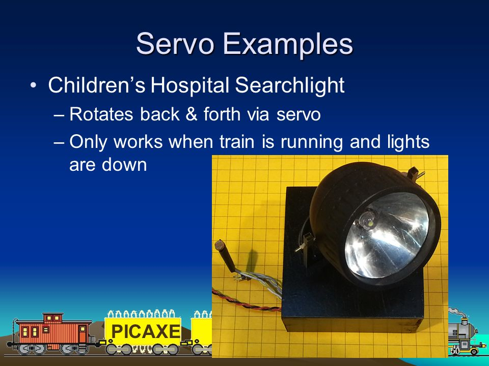 Servo Examples Children's Hospital Searchlight