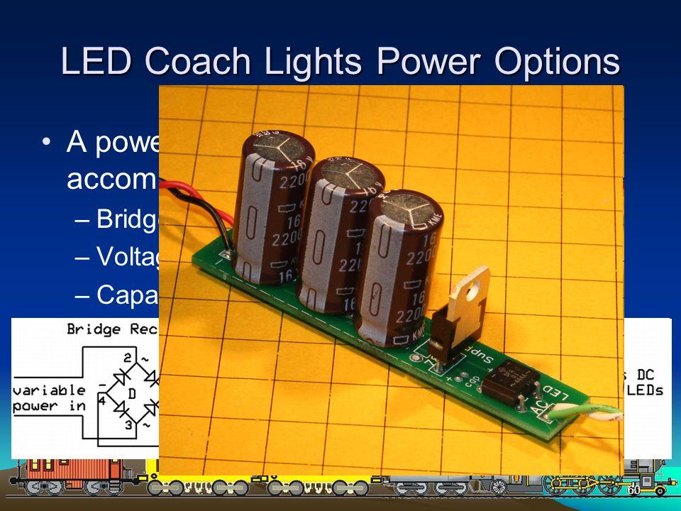 LED Coach Lights Power Options