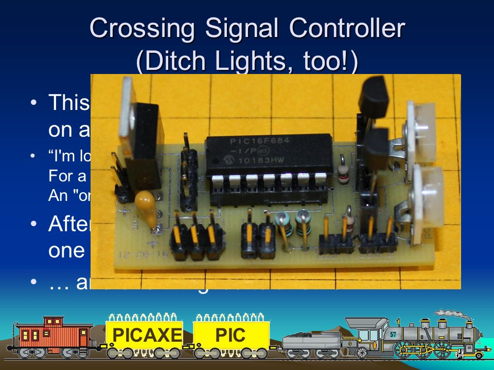 Crossing Signal Controller (Ditch Lights, too!)