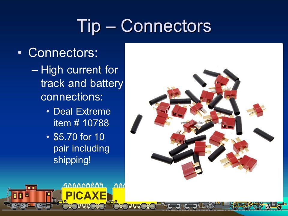 Tip – Connectors Connectors: