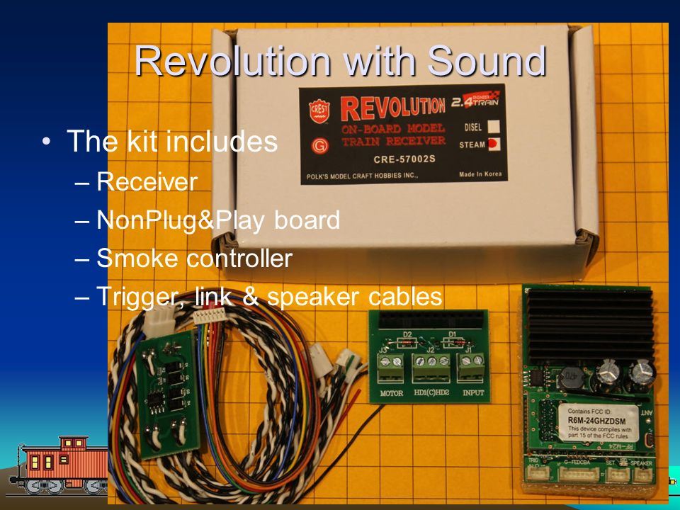 Revolution with Sound The kit includes Receiver NonPlug&Play board