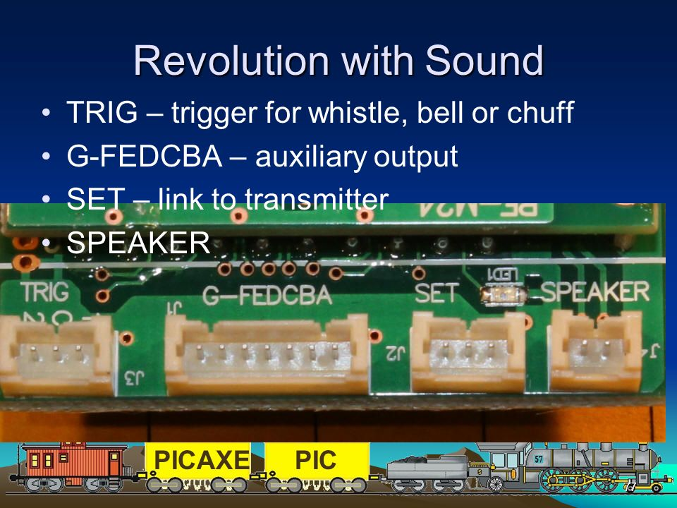 Revolution with Sound TRIG – trigger for whistle, bell or chuff