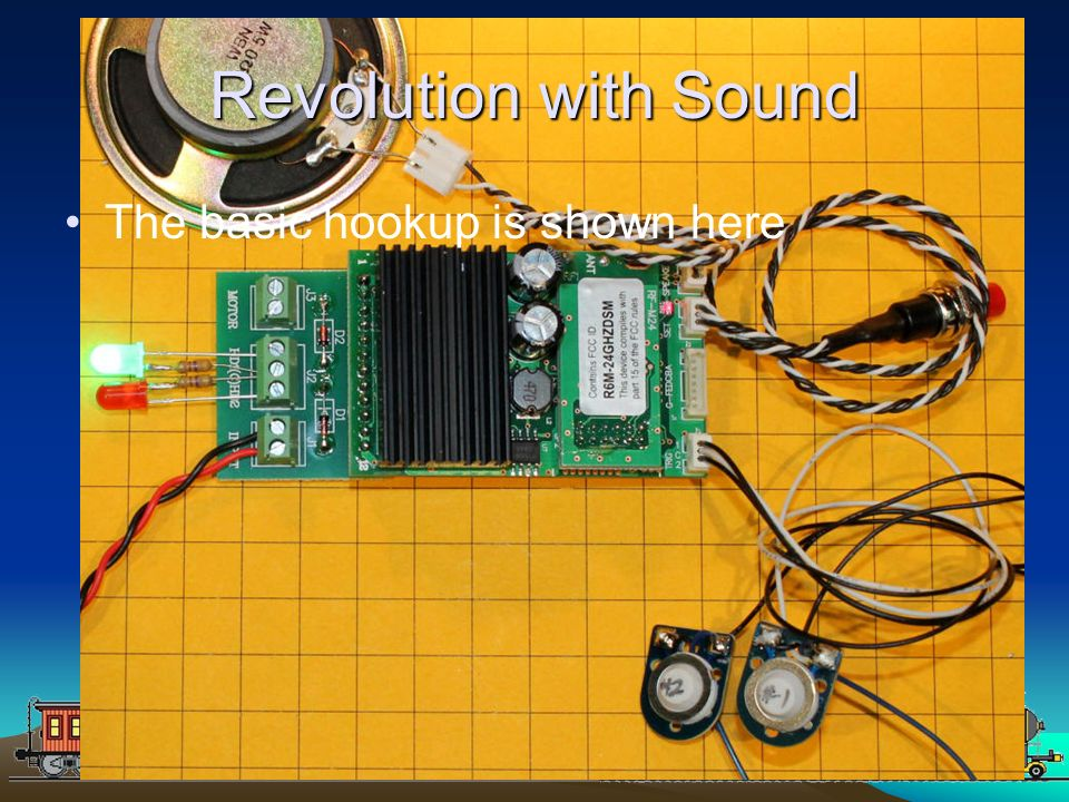 Revolution with Sound The basic hookup is shown here