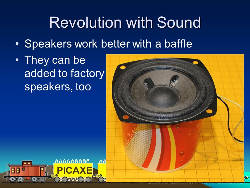 Revolution with Sound Speakers work better with a baffle