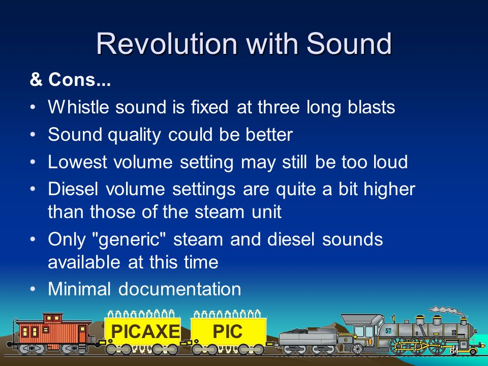 Revolution with Sound & Cons...