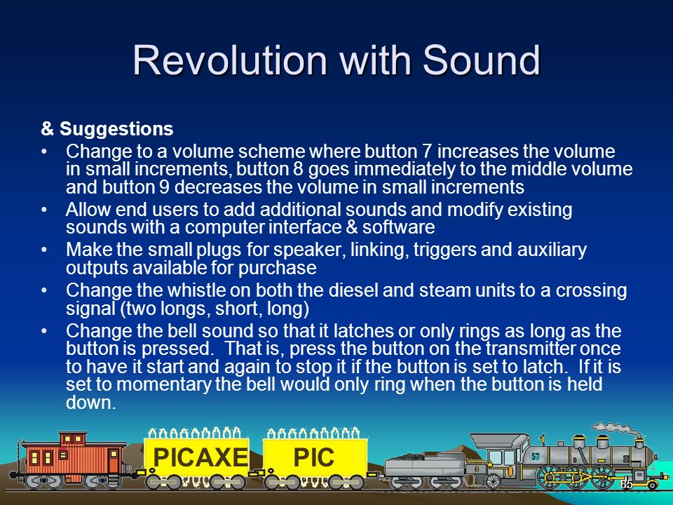 Revolution with Sound & Suggestions