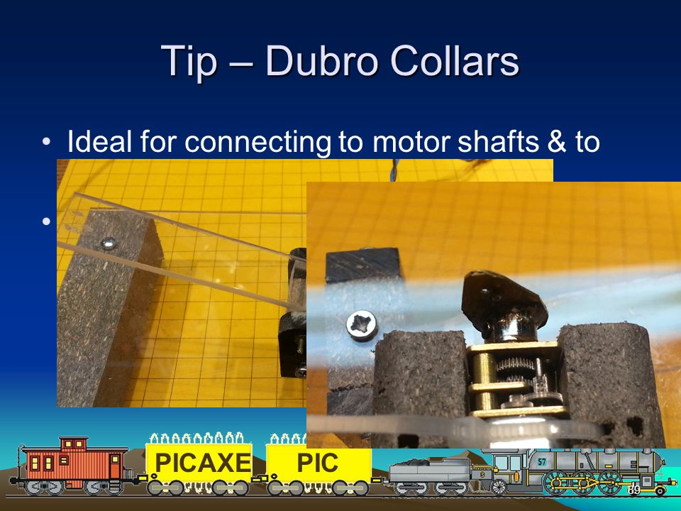 Tip – Dubro Collars Ideal for connecting to motor shafts & to join piano wire for servos.