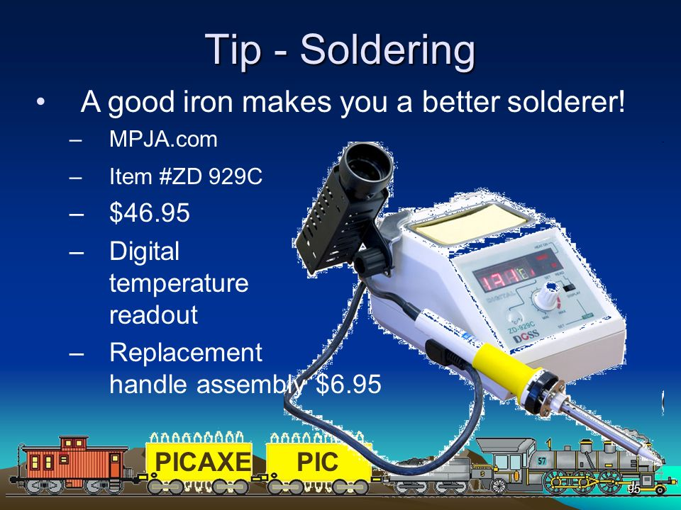 Tip - Soldering A good iron makes you a better solderer! $46.95