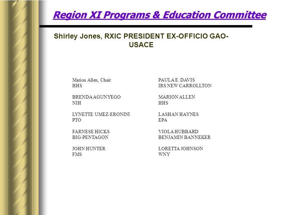 Region XI Programs & Education Committee