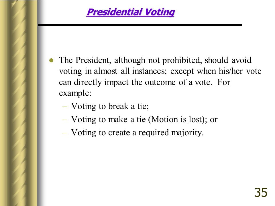 Presidential Voting