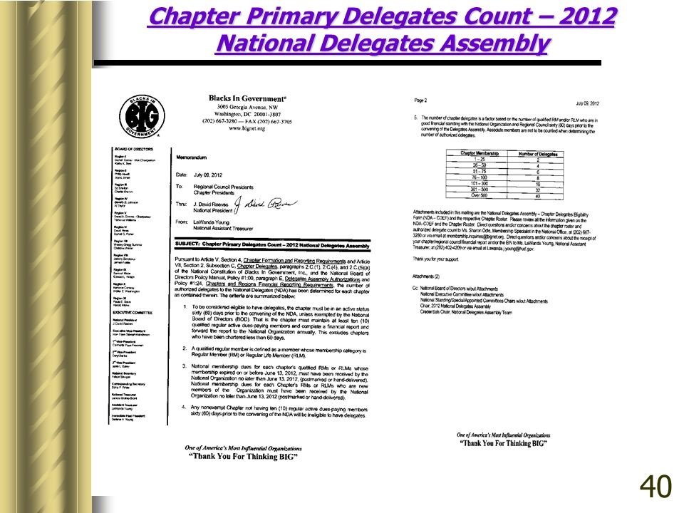 Chapter Primary Delegates Count – 2012 National Delegates Assembly