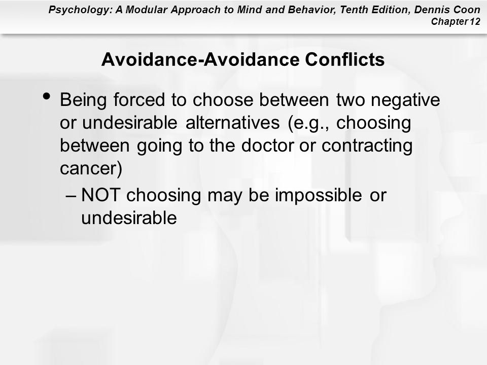 Avoidance-Avoidance Conflicts
